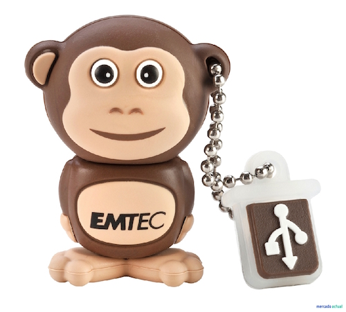 EMTEC EKMMD8GM322: 8GB Monkey Flash Drive from Am-Dig