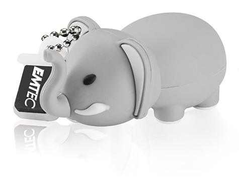 EMTEC EKMMD8GM323: 8GB Elephant Flash Drive from Am-Dig