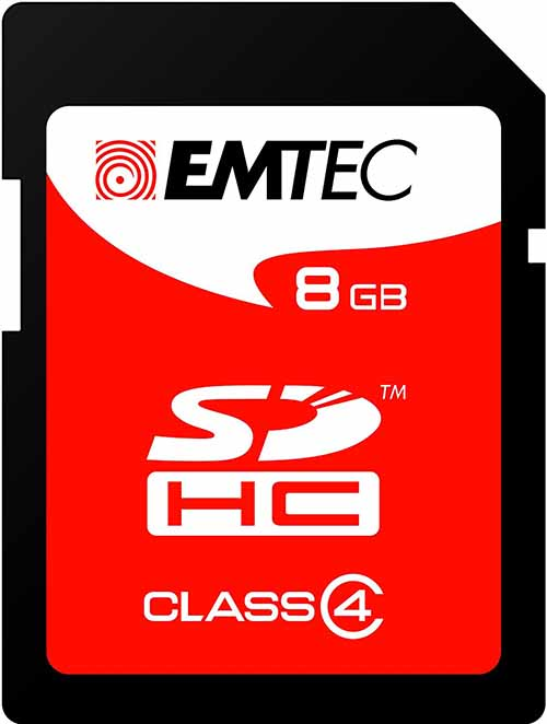 EMTEC ECMSD8GHC4: SDHC Memory Card 8GB Class-4 from Am-Dig