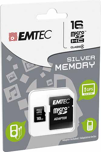 EMTEC ECMSDM16GHC4: Micro-SDHC 16GB Class-4 from Am-Dig