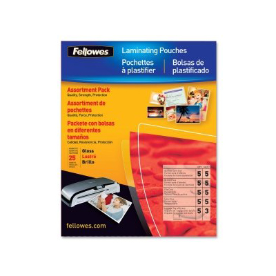 Fellowes 52018: Hot Laminating Pouches, Assorted from Am-Dig