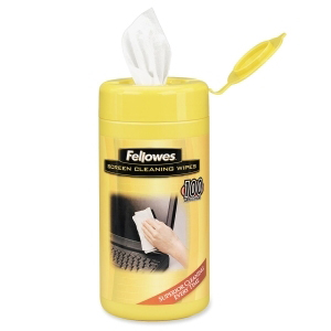 Fellowes Screen Cleaning Wipes,100/Tub  from Am-Dig