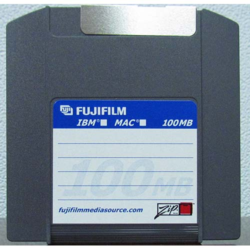 FUJI Zip Disk 100mb IBM/MAC Dual Formated from Am-Dig