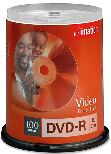 Imation 18059: DVD-R 16X Cakebox W/ Logo from Am-Dig
