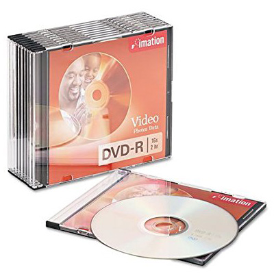 Imation 21977: DVD-R 16X in  Slim Jewel Case from Am-Dig