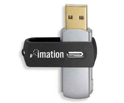 Imation 276050: Swivel Flash Drive, USB 2.0, 32GB from Am-Dig