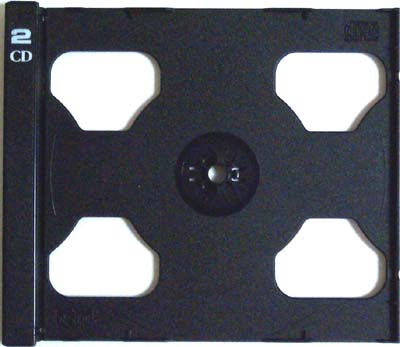 CD Tray Part - Black Double (No Case Shell) from Am-Dig