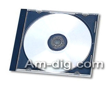CD Jewel Case - Black Single 10mm Assembled from Am-Dig