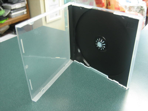 CD Jewel Case - Poly Single Black 10.4mm Spine from Am-Dig