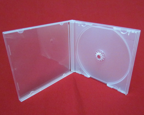 CD Jewel Case - Poly Single Clear 10.4mm Spine from Am-Dig
