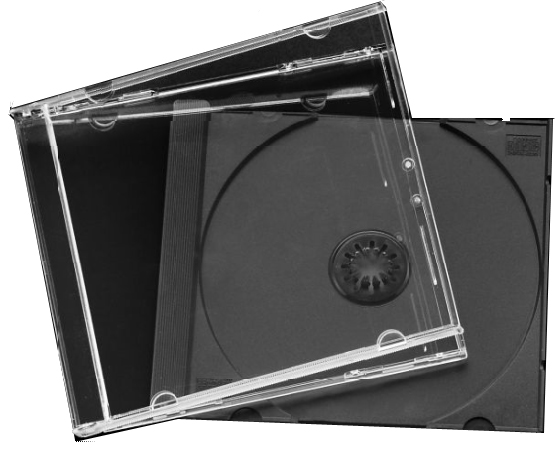 CD Jewel Case - Black Single Unassembled from Am-Dig