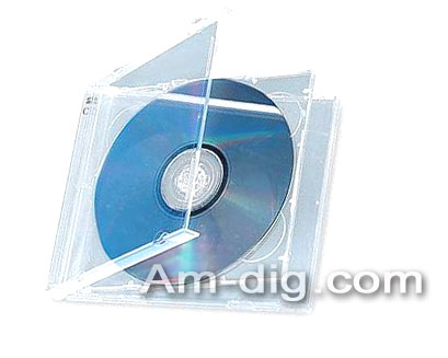 CD Jewel Case - Clear Double 10mm Assembled from Am-Dig