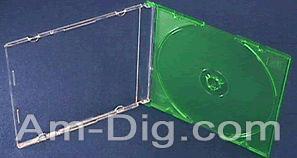 CD Jewel Case - MaxiSlim 5.2mm Green Single from Am-Dig