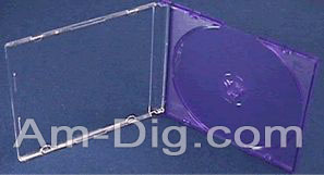 CD Jewel Case - MaxiSlim 5.2mm Purple Single from Am-Dig