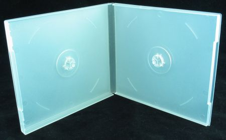 CD Jewel Case - Poly Double Semi-Clear w/ Sleeve from Am-Dig