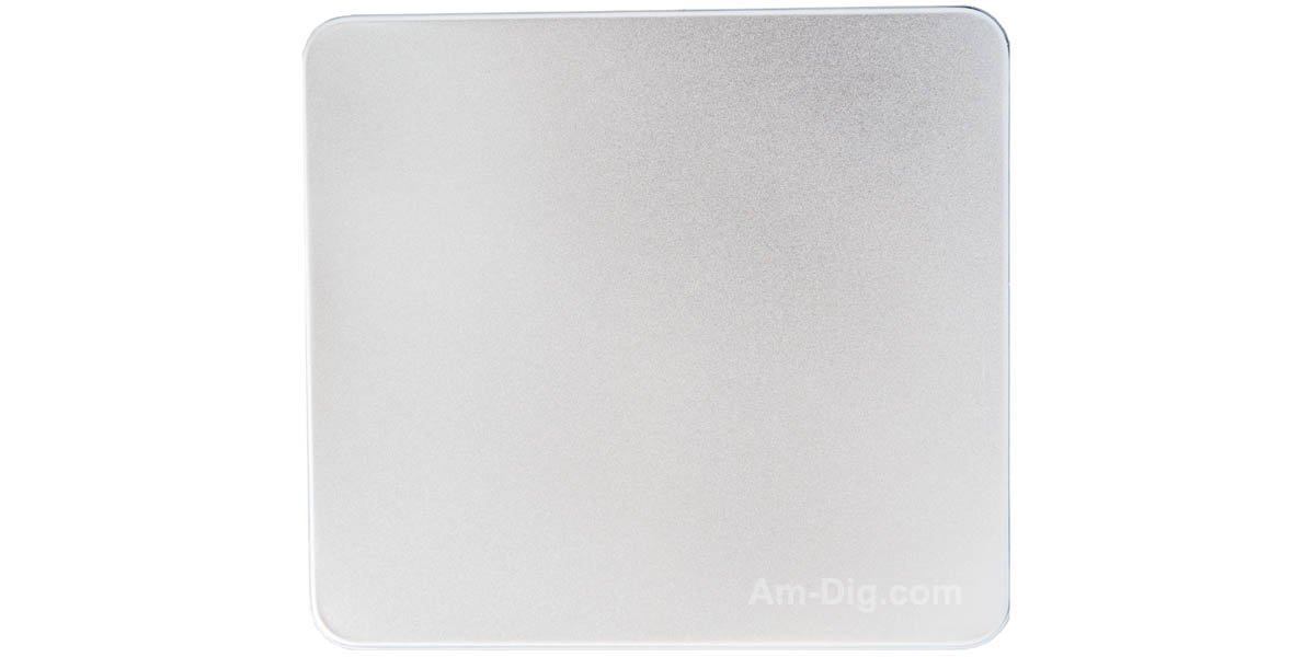 Tin CD/DVD Case Square Style No Window Clear Tray - Front View