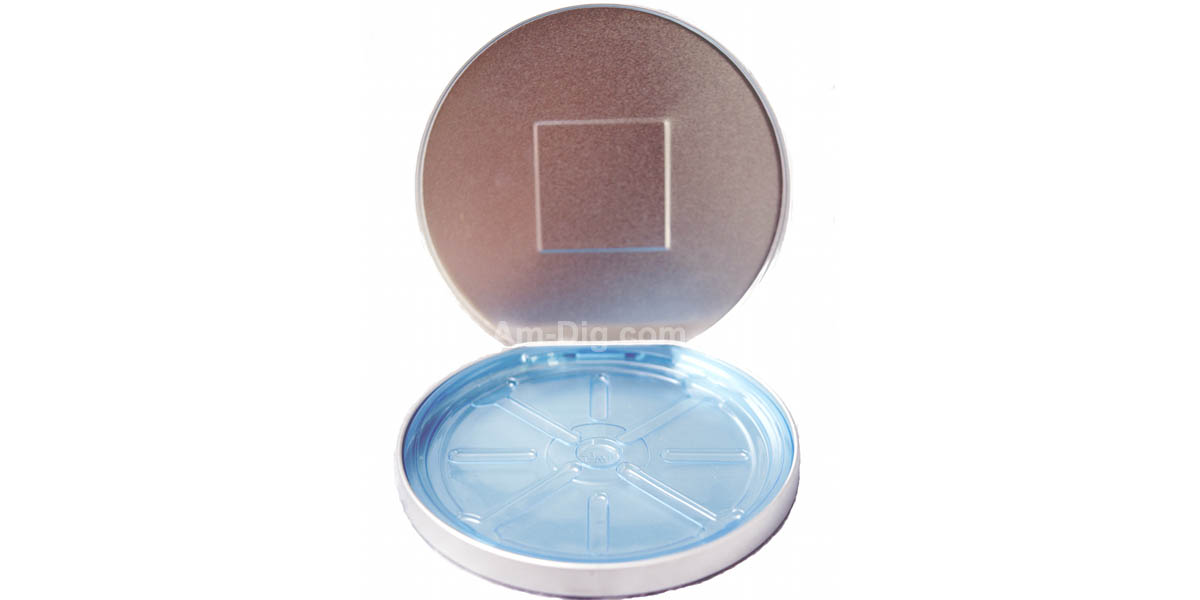 Images of the Tin CD/DVD Case Round D-Shape no Window w/ Indent