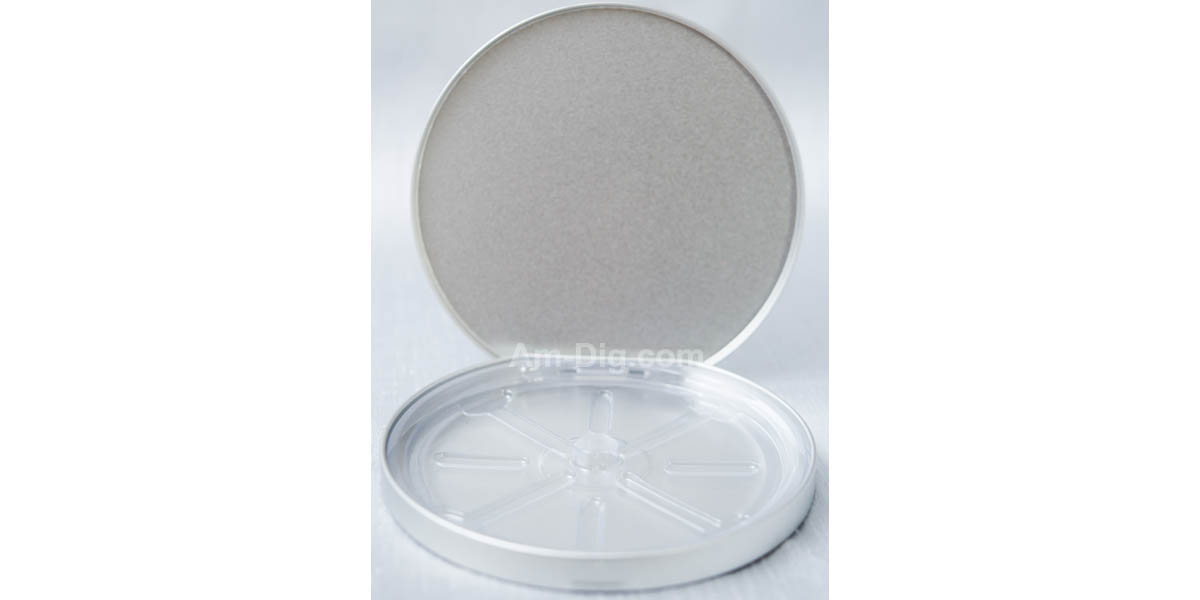 Images of the Tin CD/DVD Case Round D-Shape no Window Clear Tray