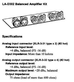 Tascam LA-D302 XLR Kit from Am-Dig