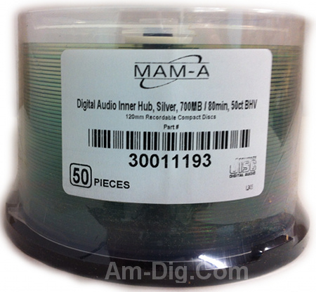 MAM-A 11193: CD-R DA-80 No Logo Top 50-Cakebox from Am-Dig