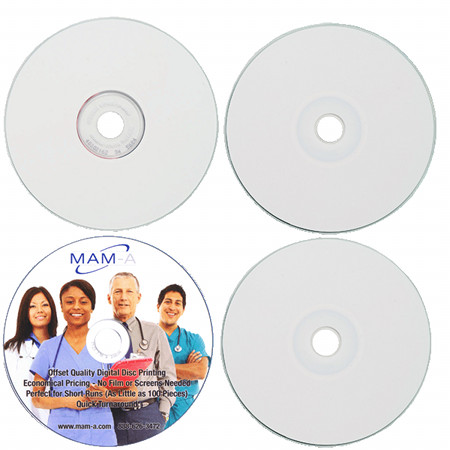 MAM-A 164114: DVD-R 4.7GB White Inkjet Hub Print from Am-Dig