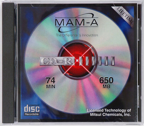 MAM-A 40381: 650MB No Logo Clear Top Coat in Case from Am-Dig