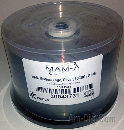 MAM-A 43731 Medical CD-R 700MB Logo Top 50-Cakebox from Am-Dig