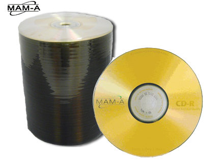 MAM-A 45191: GOLD CD-R 650MB Printed MAM-A Logo from Am-Dig