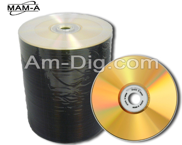 MAM-A 41215: GOLD CD-R 650MB Clear Prism Thermal from Am-Dig