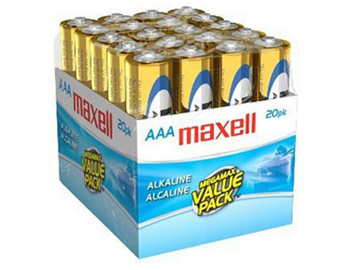 Maxell 723849: AAA Alkaline Batteries, LR03 20MP from Am-Dig