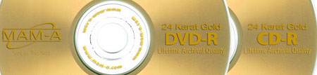 For details about the MAM-A 83483: GOLD DVD-R 4.7GB White InkJet in Case (pictured here), scroll down just a little bit.