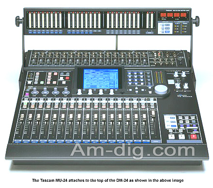 Tascam MU-24: Meter Bridge for the DM-24 Mixer from Am-Dig