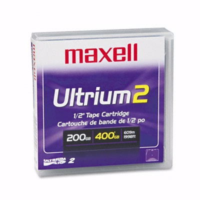 Maxell 183850: 1/2'' Ultrium LTO2 Cartridge 1998ft from Am-Dig