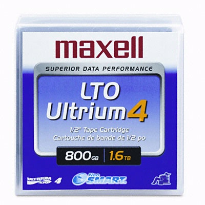 Maxell 183906: 1/2'' Ultrium LTO4 Cartridge 2600ft from Am-Dig