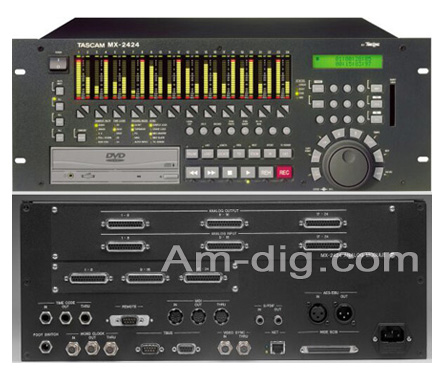 Tascam MX-2424SE: 24-Track 24-Bit Recorder/Editor from Am-Dig