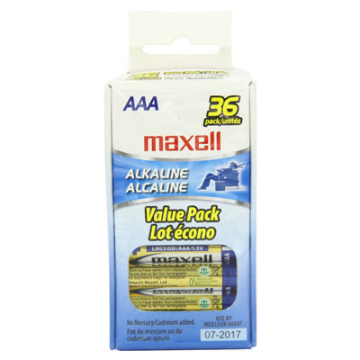 Maxell 723815: Alkaline Batteries AAA, LR03 from Am-Dig