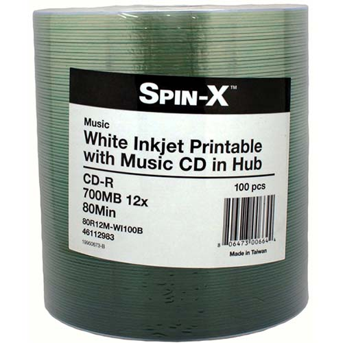 Prodisc / Spin-X 46112983 Digital Audio CDR Inkjet from Am-Dig