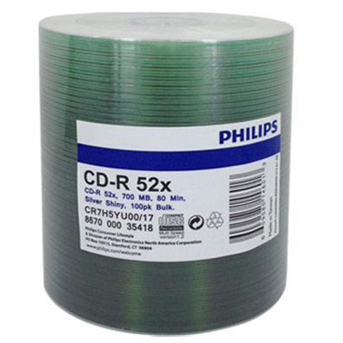 Philips CD-R Color Opp Logo Top in 100 Cakebox from Am-Dig