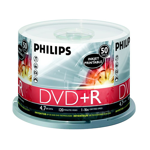 Philips DVD+R16x White Inkjet Printable from Am-Dig