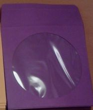 CD/DVD Sleeve - Purple Paper with Flap & Window from Am-Dig