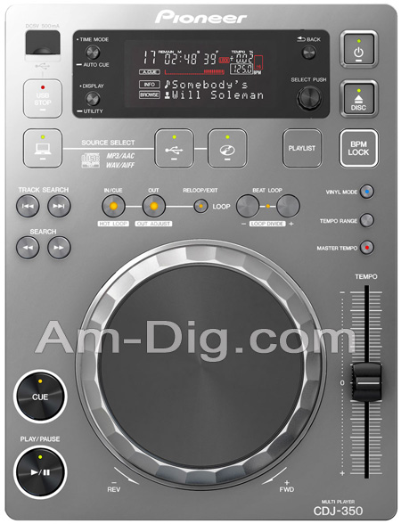 Pioneer CDJ-350-S: Digital Multi Player - Silver from Am-Dig