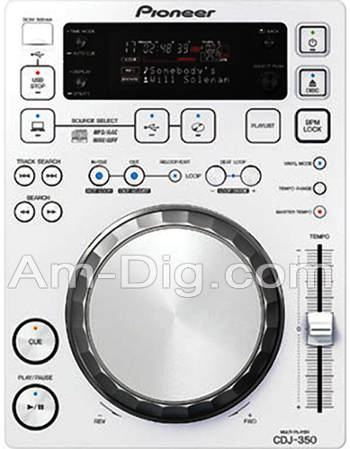 Pioneer CDJ-350-W: Digital Media Player - White from Am-Dig