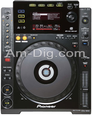 Pioneer CDJ-900: Professional CD/MP3 Turntable from Am-Dig