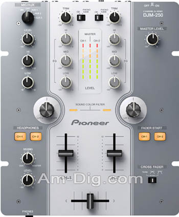 Pioneer DJM-250-W: white/grey from Am-Dig