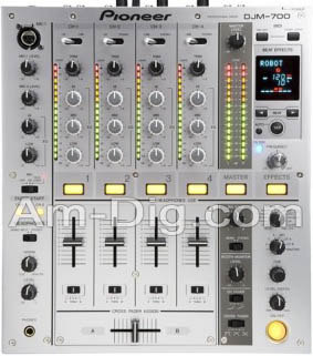 Pioneer DJM-700-S: Pro DJ Mixer 4 Channel - Silver from Am-Dig