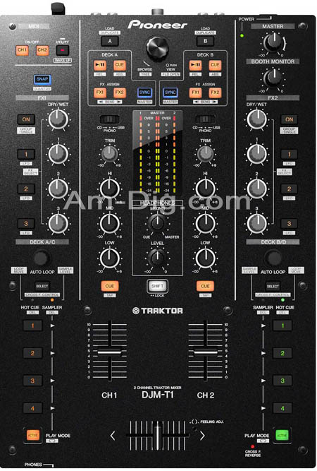Pioneer DJM-T1: Pro DJ Mixer - 2 Channel Traktor M from Am-Dig