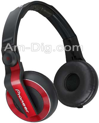 Pioneer HDJ-500R: DJ Headphones - Red from Am-Dig