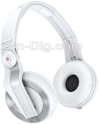 Pioneer HDJ-500W: DJ Headphones - White from Am-Dig