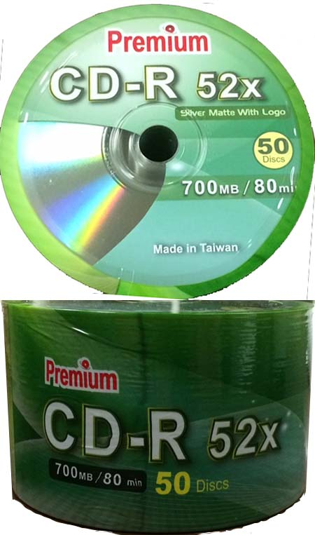 Premium/CMC 80min/700mb Shiny Silver CD-R from Am-Dig