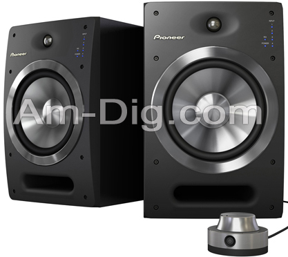Pioneer S-DJ08: 8inch Active Reference Speakers from Am-Dig